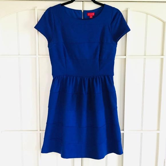Elle Dresses & Skirts - ✨ELLE Blue Mini Dress w/Pockets